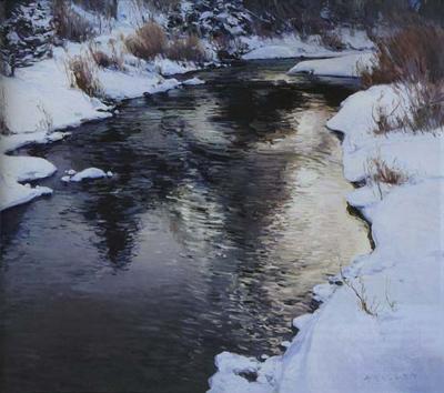 """Josh Elliott, Clearwater Winter, Oil, 20"""" x 24"""""""