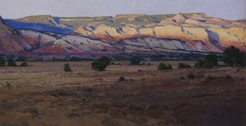 """Josh Elliott, Last Light Ghost Ranch, Oil, 12"""" x 24"""""""