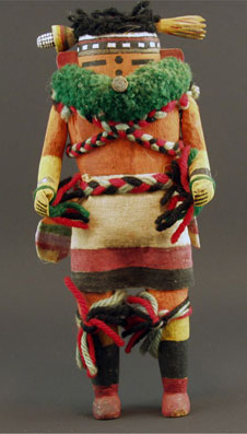 "Zuni Nahalish Corn Dancer, circa 1930, 9"" x 3"" x 2.5"""