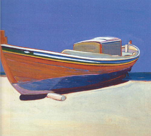 "Gregory Kondos, Caique, 1966, oil on canvas, 24""x28"""