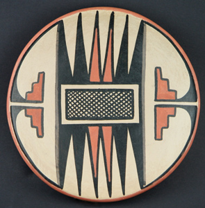 Maria and Popovi Polychrome Plate, circa 1956-58, 5.75""