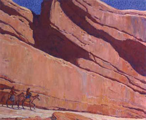 "Maynard Dixon (1875-1946) Ledge of Sunland, 1922, Oil on Canvas, 25"" x 30"" Courtesy Brigham Young University Museum of Art, purchased with funds provided by Clark Memorial"