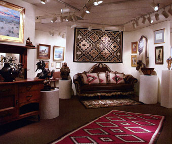 Interior of Mark Sublette Medicine Man Gallery in Tucson