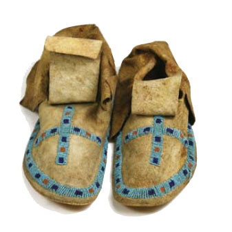 Sioux Moccasins Czech Beads