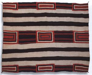 "Navajo Third Phase Chiefs Variant, circa 1910-20, 70.5"" x 67"""