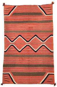 "Navajo Child's Blanket, c. 1870, 53"" x 35"""