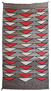 "Navajo Crystal Textile with the Modern bent, c. 1900, 88"" x 49"""