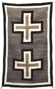 """Navajo Crystal Rug, c. 1900, 82"""" x 47"""""""