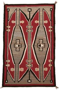 """Navajo Ganado rug, c. 1920, 70"""" x 46"""""""