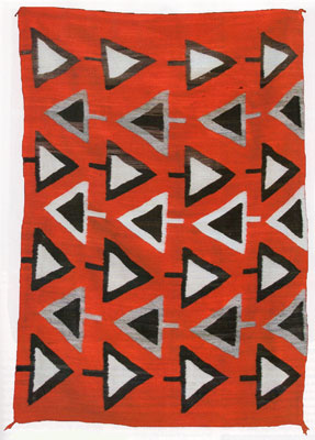 "Navajo Transitional Blanket, c. 1900-10, 74"" x 50.5"""