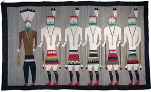 """Navajo Yeibeichei Pictorial, c. 1925, 42""""x 72"""""""