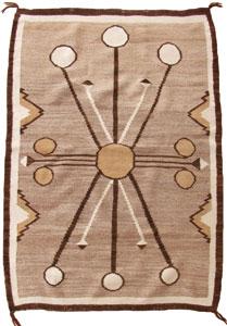 "Navajo Double Saddle Blanket, c. 1910, 49"" x 33.5"""