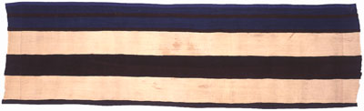 """Navajo First Phase Chiefs Blanket Central Fragment, c. 1800, 16"""" x 54"""""""