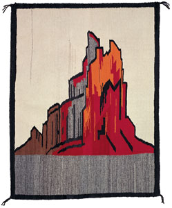 "Navajo Shiprock Pictorial, c.1920-40, 34"" x 44"""