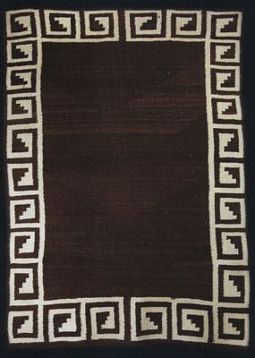 "Navajo Double Saddle Blanket, c. 1900, 50"" x 34"""