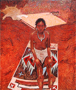 "Shonto Begay, Blessed, Acrylic on Canvas 24"" x 20"""