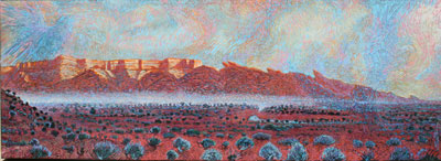 "Shonto Begay, Changing of the Guardians, Acrylic on Canvas, 66"" x 24"""