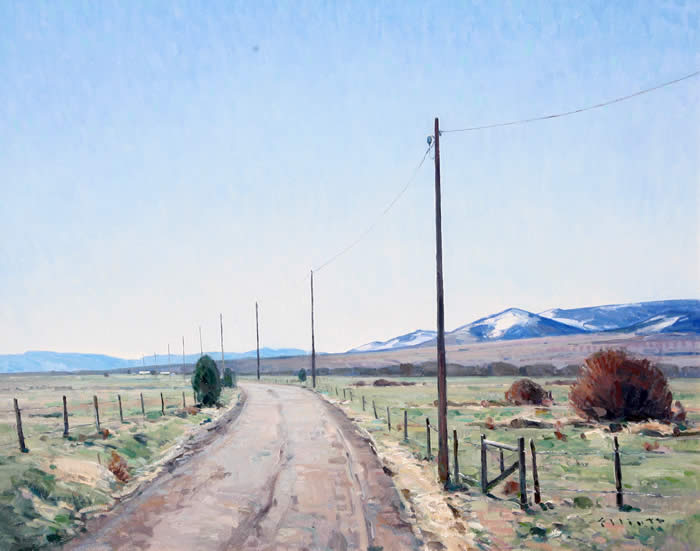 "Josh Elliott, Montana Spring , Oil on Panel, 24"" x 30"""