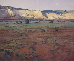 "Josh Elliott, Last Light Ghost Ranch, Oil on panel, 20"" x 24"""