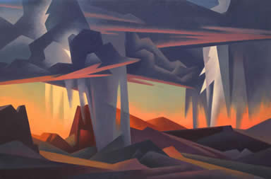 "Ed Mell, Storm's Downpour, Oil on Linen, 32"" x 48"""