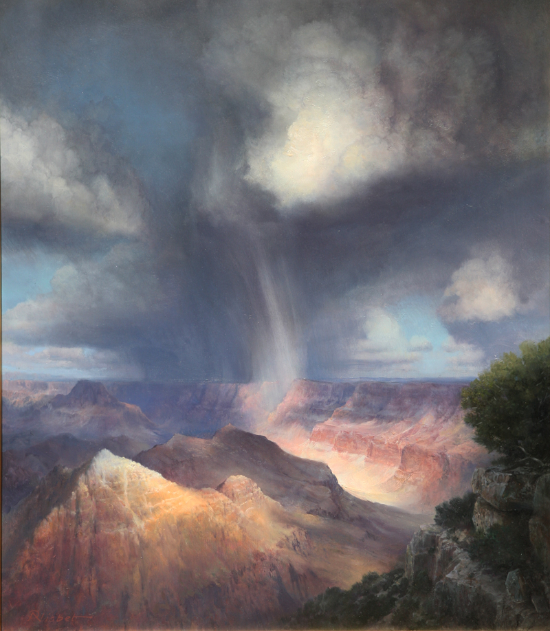 "P.A. Nisbet, Rail Veil, Comanche Point, oil on canvas, 28"" x 20"""