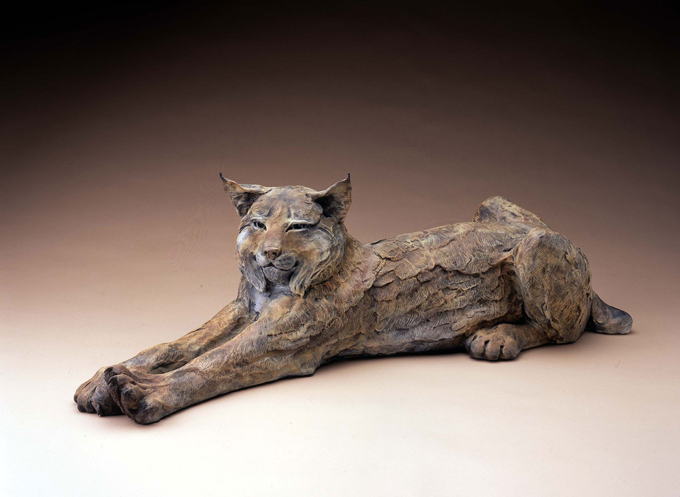"Star Liana York, Purrfectly Lazy Days, Bronze, 11"" x 36"""