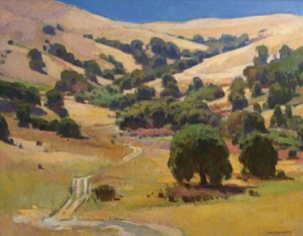 "Ray Roberts, California Coastal Range, oil, 24"" x 30"""