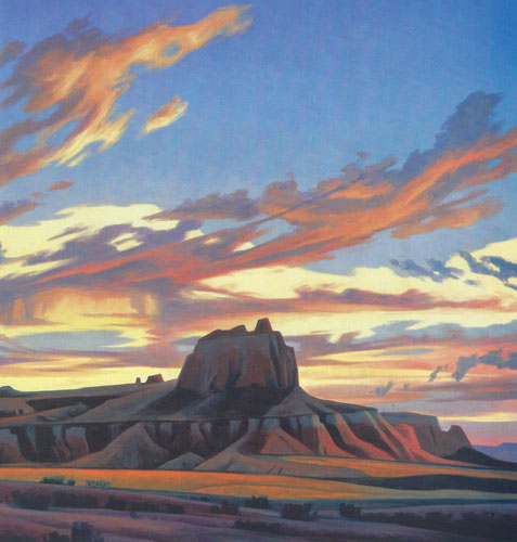 "Ed Mell, Remote Mesa, oil, 30""x40"""