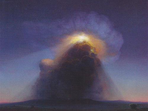 "P.A. Nisbet, The Light Bearer, 1998, oil on canvas, 36""x48"""