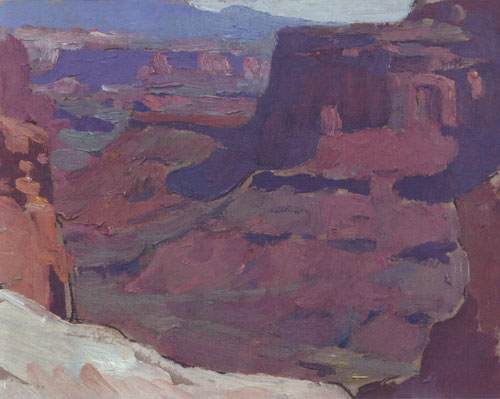 "Glenn Dean, Canyonlands, 2013, oil, 6""x8"""