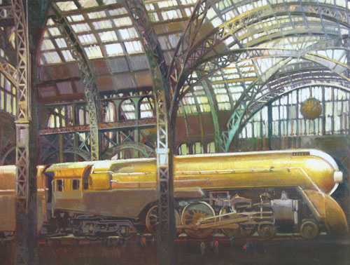 "Francis Livingston, Steam Powered, oil, 40""x60"""