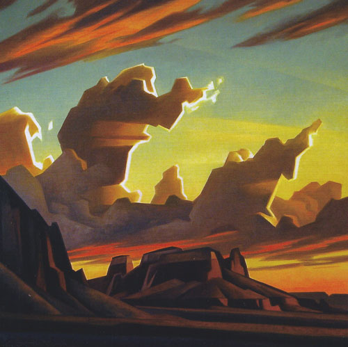 "Ed Mell, Morning Sun, oil on linen, 22""x22"""