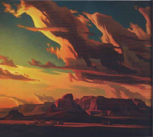 """Ed Mell, Kaibito Desert, oil, 40""""x50"""""""