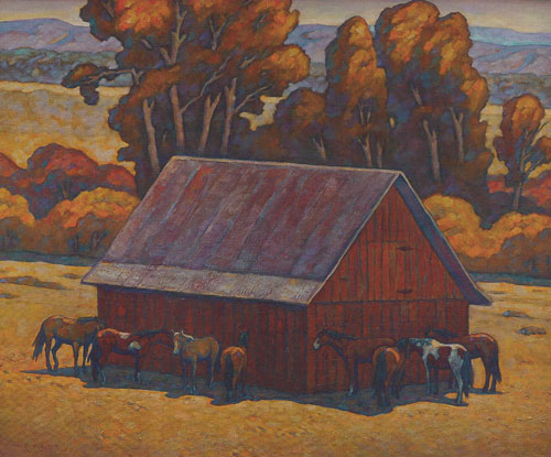 "Howard Post, Eight in the Shade, oil, 36""x44"""