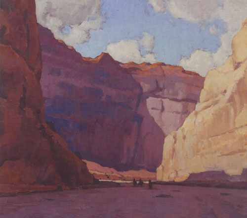 "Glenn Dean, Canyon de Chelly, 2014, oil, 36""x40"""