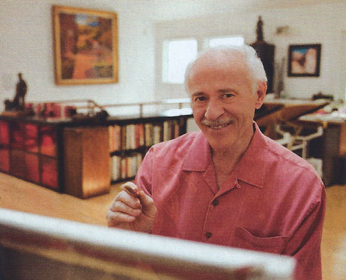 Gary Ernest Smith in his studio