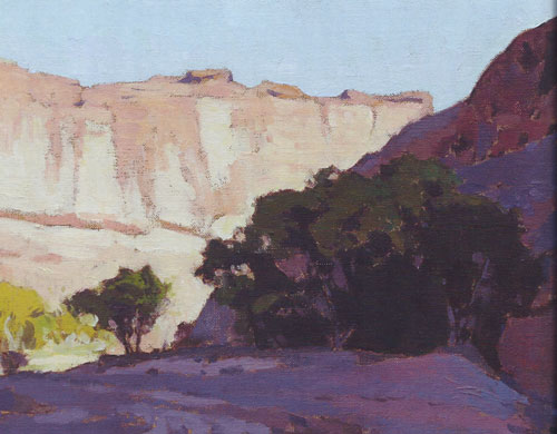 "Glenn Dean, Canyon Shadow, 2014, oil, 9""x12"""
