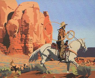 "Billy Schenck, Mavericks in the Canyon, Oil on Canvas, 30"" x 36"", 2011"