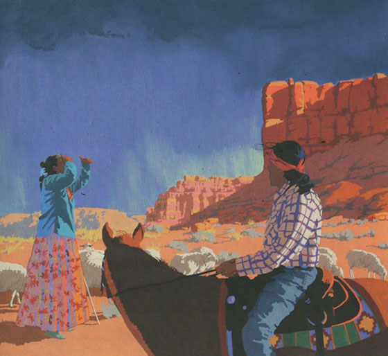 """Billy Schenck, Looking for Strays, Oil on Canvas, 36""""x 40"""", 2011"""