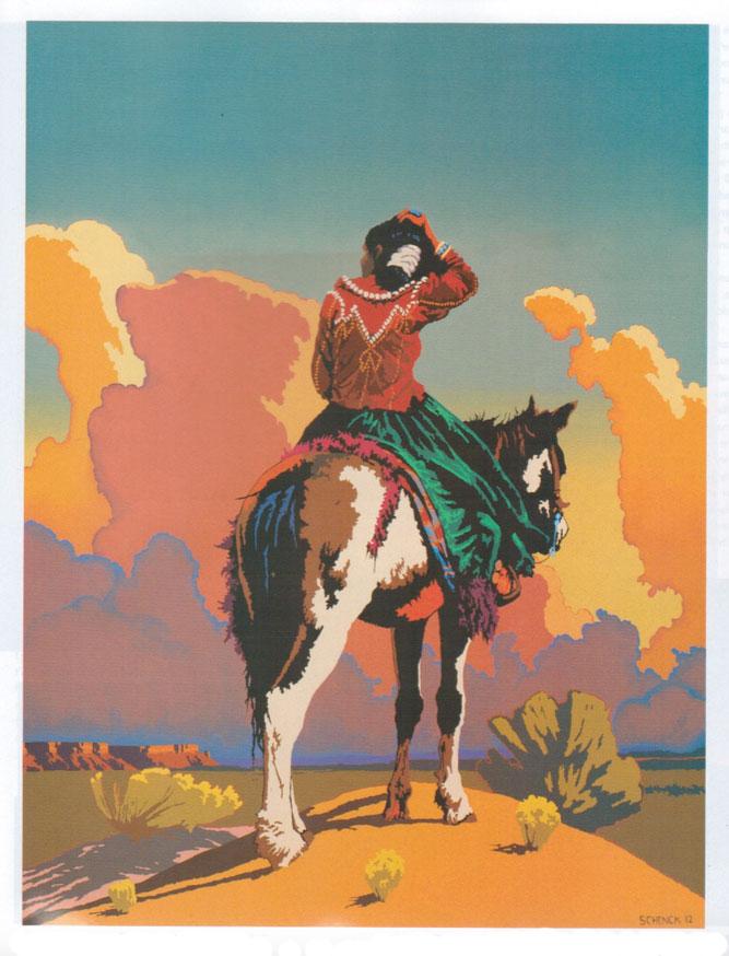 "Billy Schenck, Many, Many Miles, oil on canvas, 60"" x 46"""