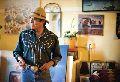 Shonto Begay in his Flagstaff, Arizona studio