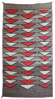 "Navajo Crystal Textile, circa 1900, 88"" x 49"""