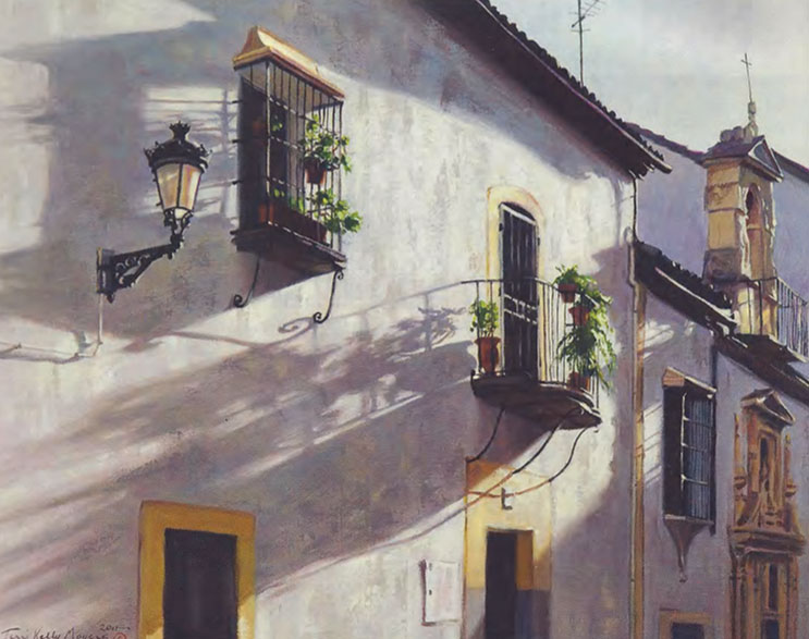 "Terri Moyers, Balconies of Cordoba, Oil on Canvas, 24"" x 30"""