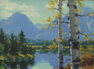 "Gregory Hull, Teton Reflections, Oil on Canvas, 18 "" x 24 """