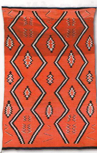 "Navajo Late Classic Serape, c. 1870, 72""x50"""