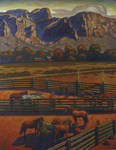 "Howard Post, San Tan Valley, oil on canvas, 60""x48"""