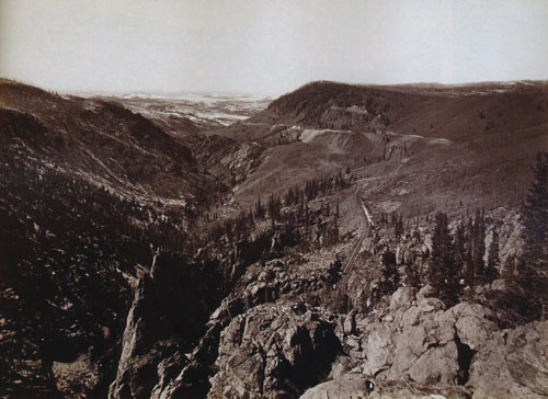 William Henry Jackson, Los Pinos Valley Looking West, Negative Date: 1883 ca., Albumen print