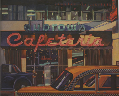 "Dennis Ziemienski, Dubrow's Cafeteria, 36""x48"""
