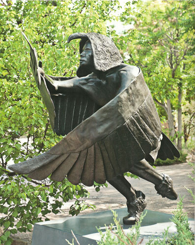 "Michael Naranjo, Eagle Man, bronze, 86.5""x63""x46"""