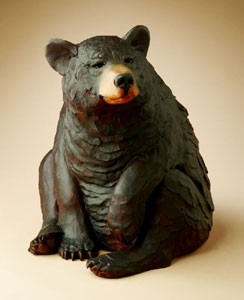 "Star Liana York, Watch Bear, Bronze Edition of 35, 17"" x 12"" x 13"""